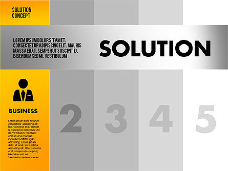 Solution Concept Options Presentation Template, Slide 4, 02400, Stage Diagrams — PoweredTemplate.com