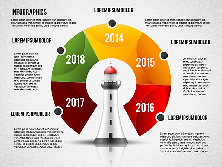 Infographics with Lighthouse, Slide 2, 02402, Infographics — PoweredTemplate.com