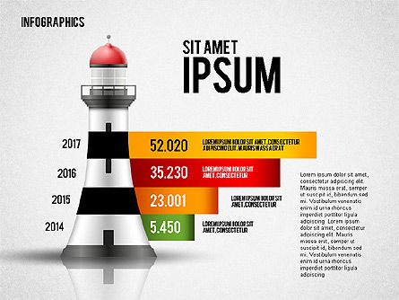Infographics with Lighthouse, Slide 3, 02402, Infographics — PoweredTemplate.com