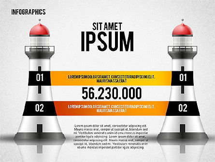Infographics with Lighthouse, Slide 4, 02402, Infographics — PoweredTemplate.com