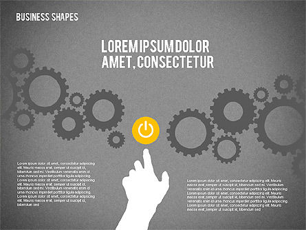 Data Driven Business Presentations with Shapes and Silhouettes, Slide 10, 02403, Presentation Templates — PoweredTemplate.com