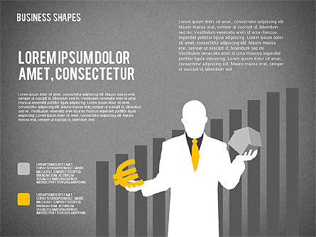 Data Driven Business Presentations with Shapes and Silhouettes, Slide 9, 02403, Presentation Templates — PoweredTemplate.com