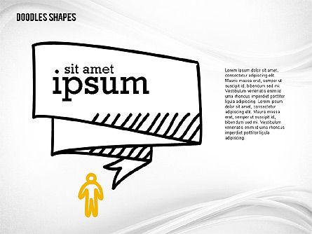 Presentation Template with Doodle Shapes, Slide 2, 02405, Presentation Templates — PoweredTemplate.com
