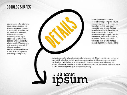 Presentation Template with Doodle Shapes, Slide 4, 02405, Presentation Templates — PoweredTemplate.com