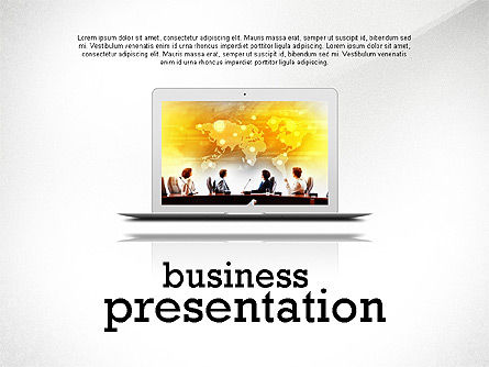 Data Driven Modern Business Presentation, 02407, Presentation Templates — PoweredTemplate.com