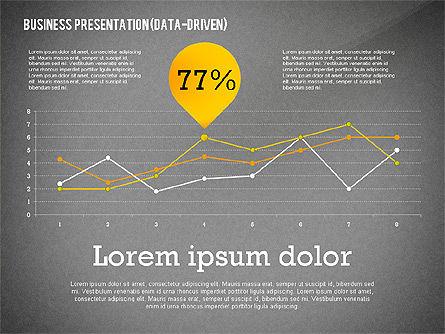 Data Driven Modern Business Presentation, Slide 14, 02407, Presentation Templates — PoweredTemplate.com