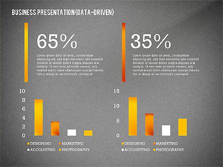 Data Driven Modern Business Presentation, Slide 15, 02407, Presentation Templates — PoweredTemplate.com