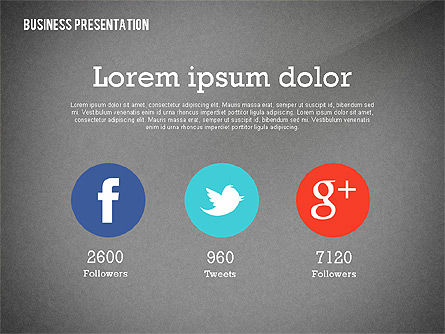 Data Driven Modern Business Presentation, Slide 16, 02407, Presentation Templates — PoweredTemplate.com