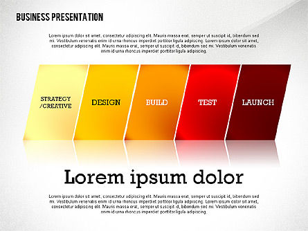 Data Driven Modern Business Presentation, Slide 2, 02407, Presentation Templates — PoweredTemplate.com