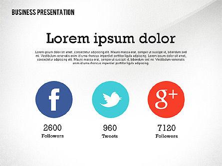 Data Driven Modern Business Presentation, Slide 8, 02407, Presentation Templates — PoweredTemplate.com