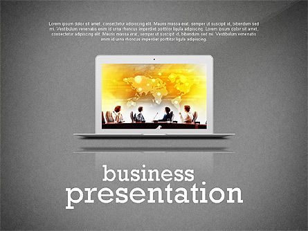 Data Driven Modern Business Presentation, Slide 9, 02407, Presentation Templates — PoweredTemplate.com