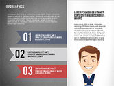 Infographics in Flat Design with Character#14
