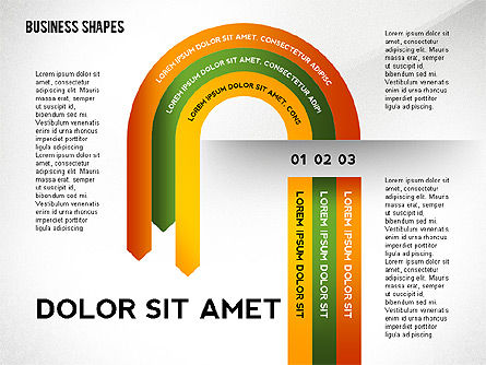 Shapes: Abstract Ribbon Color Shapes and Elements for Infographics #02410