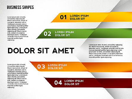 Abstract Ribbon Color Shapes and Elements for Infographics Slide 3