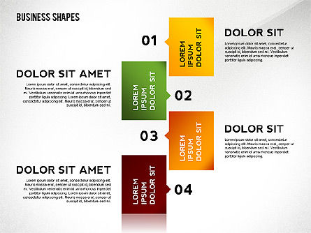 Abstract Ribbon Color Shapes and Elements for Infographics Slide 4