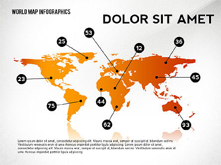 Infographics: World Map and Globe Infographics #02411