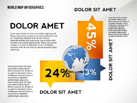 World Map and Globe Infographics, Slide 2, 02411, Infographics — PoweredTemplate.com