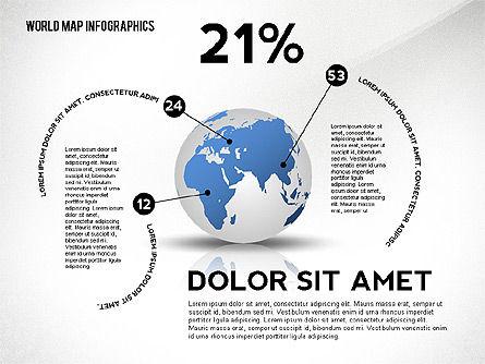 World Map and Globe Infographics, Slide 4, 02411, Infographics — PoweredTemplate.com