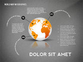 World Map and Globe Infographics#11