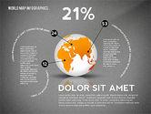World Map and Globe Infographics#12