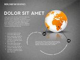 World Map and Globe Infographics#13