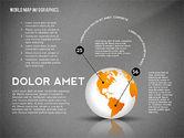 World Map and Globe Infographics#15