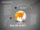 World Map and Globe Infographics#16