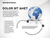 World Map and Globe Infographics#5