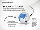World Map and Globe Infographics#6