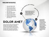 World Map and Globe Infographics#7