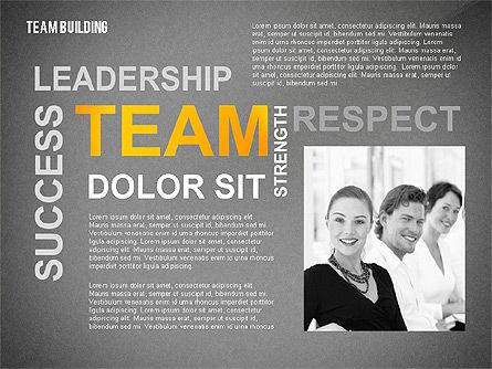 Team Building Word Cloud, Slide 13, 02413, Presentation Templates — PoweredTemplate.com