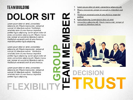 Team Building Word Cloud, Slide 2, 02413, Presentation Templates — PoweredTemplate.com