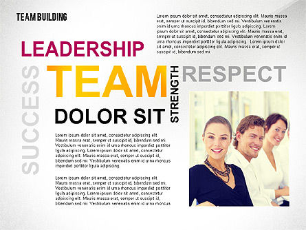 Team Building Word Cloud, Slide 5, 02413, Presentation Templates — PoweredTemplate.com