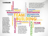 Presentation Templates: Team Building Word Cloud #02413