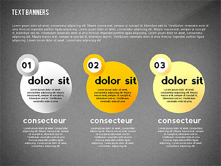 Text Banners Toolbox, Slide 10, 02414, Text Boxes — PoweredTemplate.com