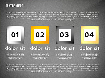 Text Banners Toolbox, Slide 12, 02414, Text Boxes — PoweredTemplate.com