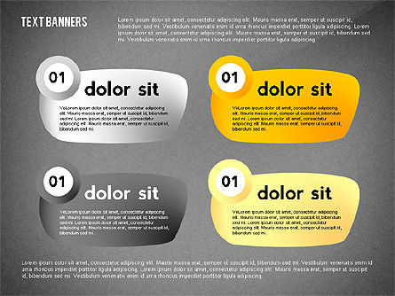 Text Banners Toolbox, Slide 13, 02414, Text Boxes — PoweredTemplate.com