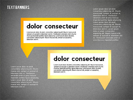 Text Banners Toolbox, Slide 14, 02414, Text Boxes — PoweredTemplate.com