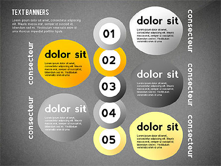 Text Banners Toolbox, Slide 15, 02414, Text Boxes — PoweredTemplate.com