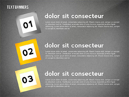 Text Banners Toolbox, Slide 16, 02414, Text Boxes — PoweredTemplate.com