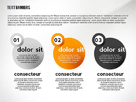 Text Banners Toolbox, Slide 2, 02414, Text Boxes — PoweredTemplate.com