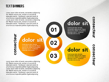 Text Banners Toolbox, Slide 3, 02414, Text Boxes — PoweredTemplate.com