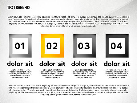 Text Banners Toolbox, Slide 4, 02414, Text Boxes — PoweredTemplate.com