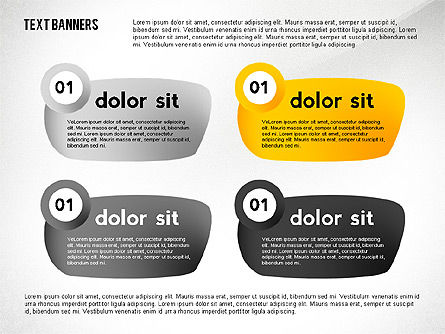 Text Banners Toolbox, Slide 5, 02414, Text Boxes — PoweredTemplate.com