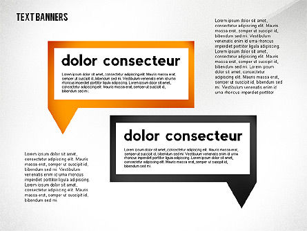 Text Banners Toolbox, Slide 6, 02414, Text Boxes — PoweredTemplate.com