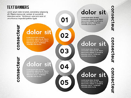 Text Banners Toolbox, Slide 7, 02414, Text Boxes — PoweredTemplate.com