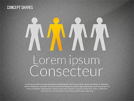 Concept Shapes, Slide 11, 02415, Shapes — PoweredTemplate.com