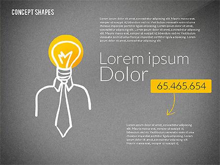 Concept Shapes, Slide 12, 02415, Shapes — PoweredTemplate.com