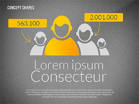 Concept Shapes, Slide 14, 02415, Shapes — PoweredTemplate.com