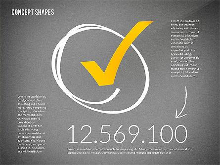 Concept Shapes, Slide 15, 02415, Shapes — PoweredTemplate.com
